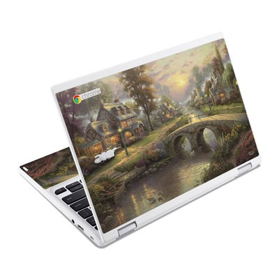 Acer Chromebook R11 Skin - Sunset On Lamplight Lane