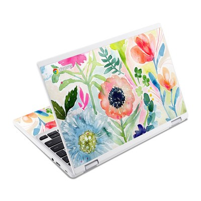 Acer Chromebook R11 Skin - Loose Flowers