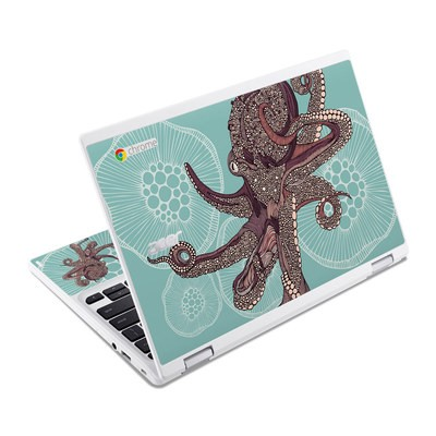 Acer Chromebook R11 Skin - Octopus Bloom