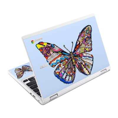 Acer Chromebook R11 Skin - Pieced Butterfly