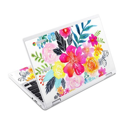 Acer Chromebook R11 Skin - Pink Bouquet