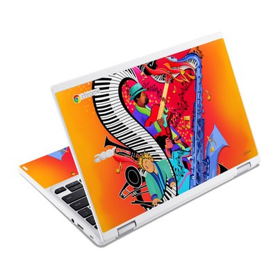 Acer Chromebook R11 Skin - Red Hot Jazz