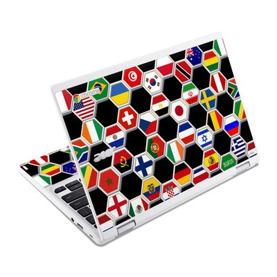 Acer Chromebook R11 Skin - Soccer Flags