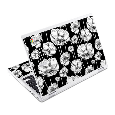 Acer Chromebook R11 Skin - Striped Blooms