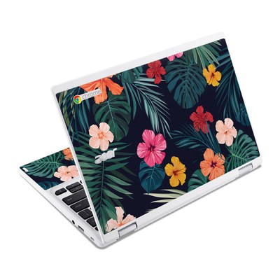 Acer Chromebook R11 Skin - Tropical Hibiscus
