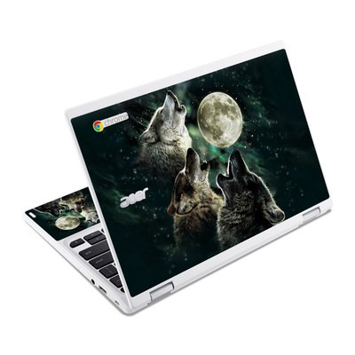 Acer Chromebook R11 Skin - Three Wolf Moon