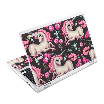 Acer Chromebook R11 Skin - Unicorns and Roses
