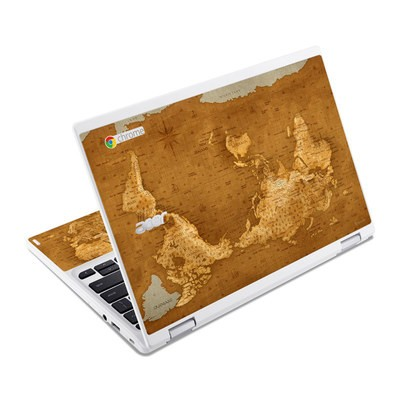 Acer Chromebook R11 Skin - Upside Down Map