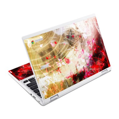 Acer Chromebook R11 Skin - Woodflower