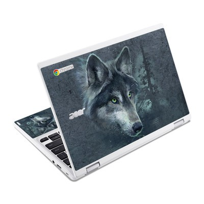 Acer Chromebook R11 Skin - Wolf Reflection