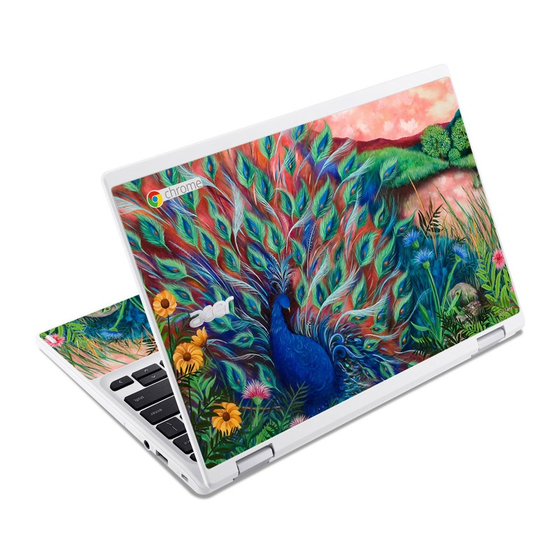 Acer Chromebook R11 Skin - Coral Peacock By Juleez