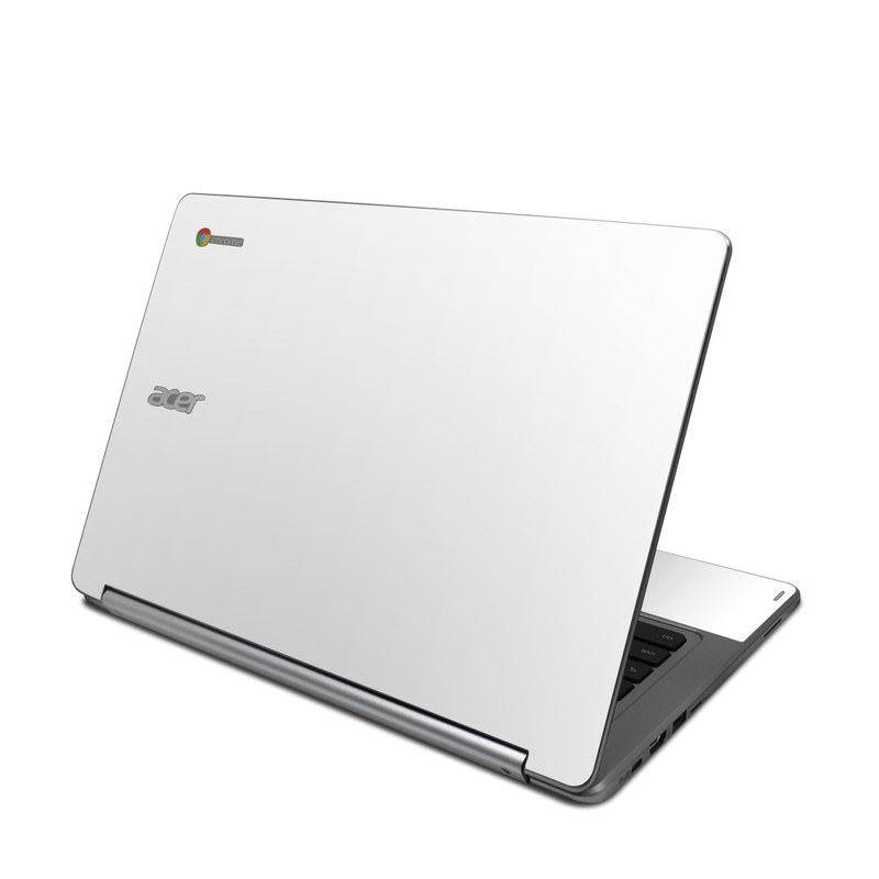 acer chromebook r13 skin solid state white by solid colors decalgirl