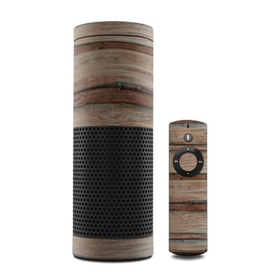 Amazon Echo Skin - Boardwalk Wood