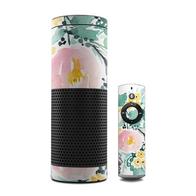 Amazon Echo Skin - Blushed Flowers