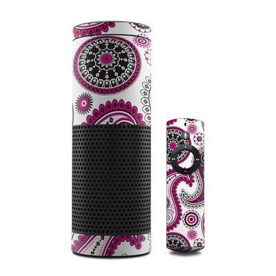 Amazon Echo Skin - Boho Girl Paisley