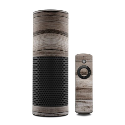 Amazon Echo Skin - Barn Wood