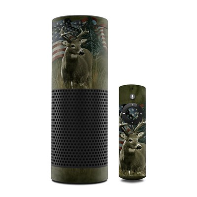 Amazon Echo Skin - Deer Flag