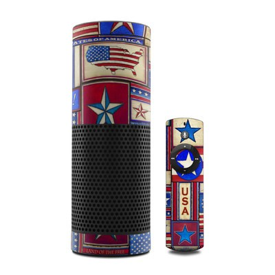 Amazon Echo Skin - Flag Patchwork