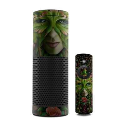 Amazon Echo Skin - Green Woman