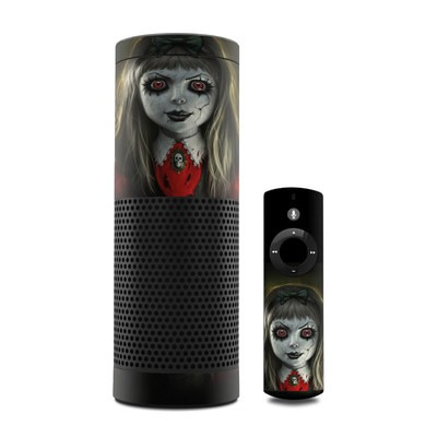 Amazon Echo Skin - Haunted Doll