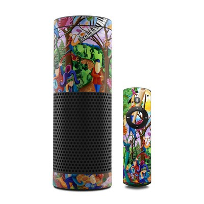 Amazon Echo Skin - Happy Town Celebration