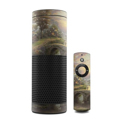 Amazon Echo Skin - Sunset On Lamplight Lane