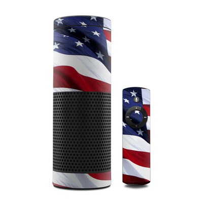 Amazon Echo Skin - Patriotic