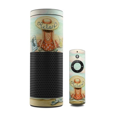 Amazon Echo Skin - Relaxing on Beach