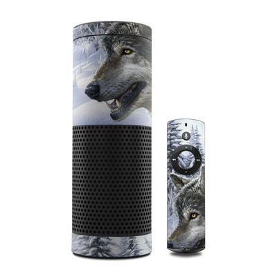 Amazon Echo Skin - Snow Wolves