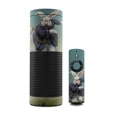 Amazon Echo Skin - White Rabbit