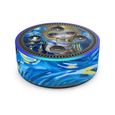 Amazon Echo Dot 2nd Gen Skin - Alice in a Van Gogh