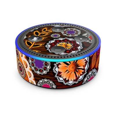 Amazon Echo Dot 2nd Gen Skin - Autumn Mehndi