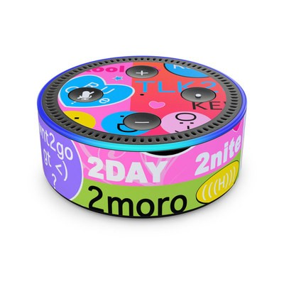 Amazon Echo Dot 2nd Gen Skin - BFF Girl Talk