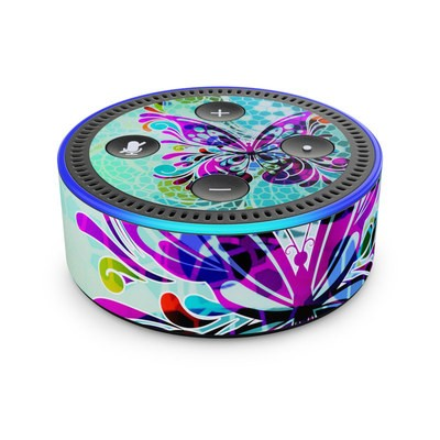 Amazon Echo Dot 2nd Gen Skin - Butterfly Glass