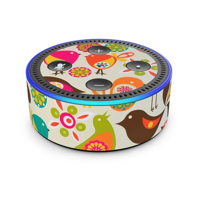 Amazon Echo Dot 2nd Gen Skin - Bird Flowers