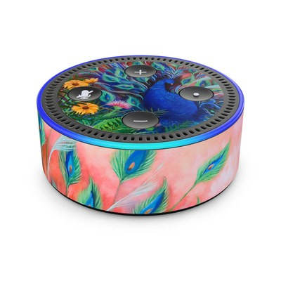 Amazon Echo Dot 2nd Gen Skin - Coral Peacock