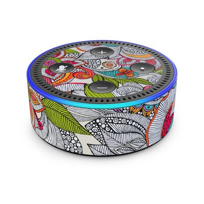 Amazon Echo Dot 2nd Gen Skin - Doodles Color
