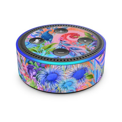 Amazon Echo Dot 2nd Gen Skin - Fantasy Garden