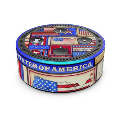 Amazon Echo Dot 2nd Gen Skin - Flag Patchwork