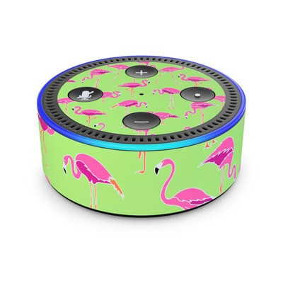 Amazon Echo Dot 2nd Gen Skin - Flamingo Day