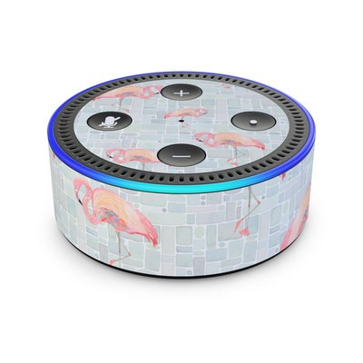 Amazon Echo Dot 2nd Gen Skin - Flamingo Mosaic