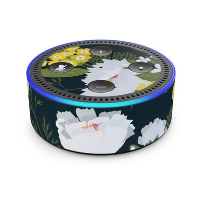 Amazon Echo Dot 2nd Gen Skin - Fleurette Night