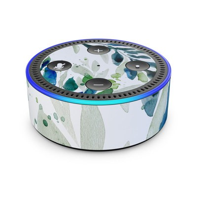 Amazon Echo Dot 2nd Gen Skin - Floating Leaves