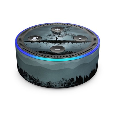 Amazon Echo Dot 2nd Gen Skin - Flying Tree Black