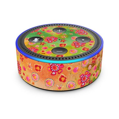 Amazon Echo Dot 2nd Gen Skin - Garden Flowers