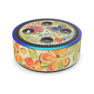 Amazon Echo Dot 2nd Gen Skin - Garden Scroll