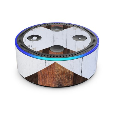 Amazon Echo Dot 2nd Gen Skin - Geo Wood