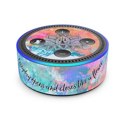 Amazon Echo Dot 2nd Gen Skin - Happy Lotus