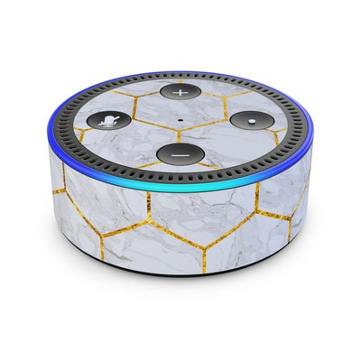 Amazon Echo Dot 2nd Gen Skin - Honey Marble