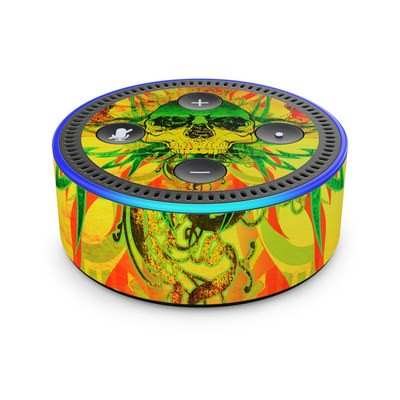 Amazon Echo Dot 2nd Gen Skin - Hot Tribal Skull